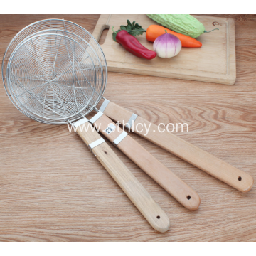 Solid Stainless Steel Strainer Skimmer Ladle