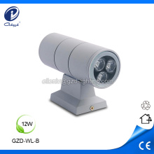Two side lighting outdoor 12W led wall luminaire