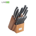 14pcs Professional Kitchen Knife Set With Wooden Block