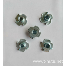 4 Prongs Carbon steel Insert Tee Nuts