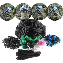 10~50m Watering Kits 8L Blue Flag Drippers with 4/7mm Hose Holder DIY Irrigation Kits Garden Micro Irrigation System