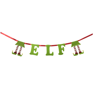 Christmas 3D magic elf bunting banner