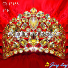 Gold Color Pageant Crown
