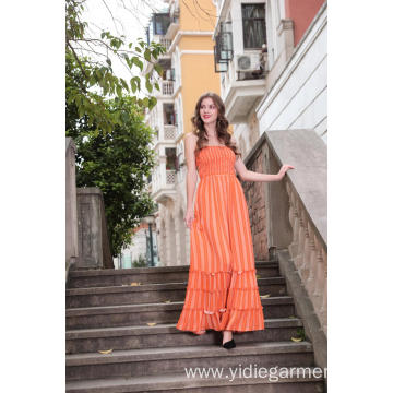 Women's Stripe Cami Maxi Dress