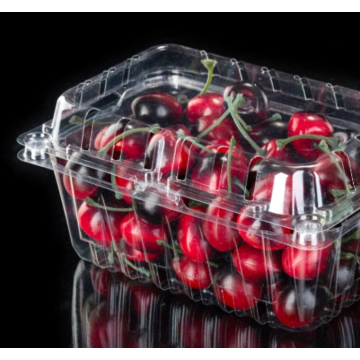 Fruit clamshell packaging box for supermarket