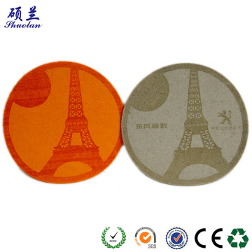 Good quality 100% polyester felt coaster
