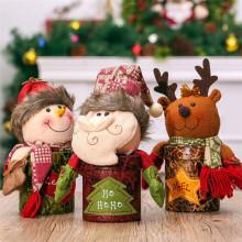 Candy Storage Box Christmas Decorations Ornaments Xmas Decor Supplies Candy Organizer Santa Claus Snowman Elk Doll Gift Holders