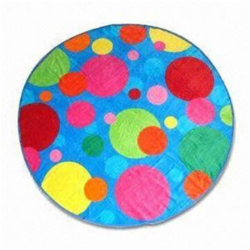 bath 100 polyester microfiber watermelon round beach towel
