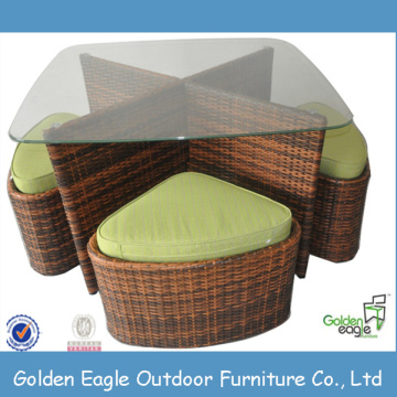 Mataas na Tuktok na Leisure Patio Outdoor Wicker Muwebles