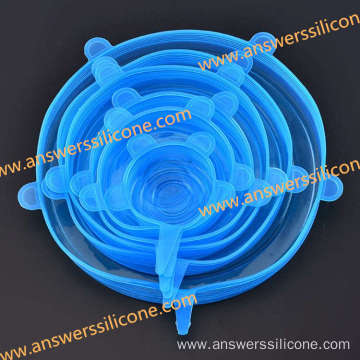 Custom reusable silicone stretch lids cover for food