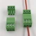 3pin contacts 3.81mm pitch pluggable M&F terminal block