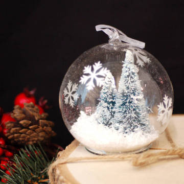 Customized Christmas Glass Ball WIth Figurines
