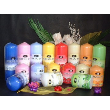 Long Lasting Colorful Pillar Candles