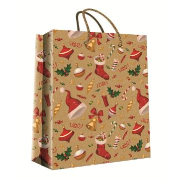 CHRISTMAS KRAFT GIFT BAG51-0