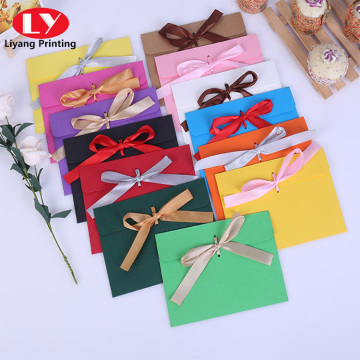Custom colorful envelope with ribbon closure cheap