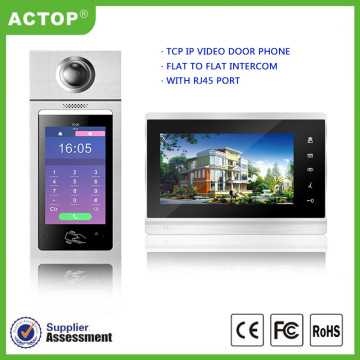 Multi-apartment TCP/IP video door phone system solution
