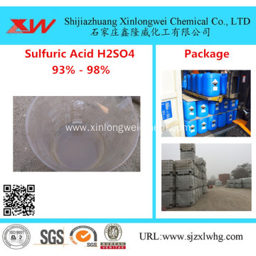 Sulfuric Acid Bulk 98% 93% H2SO4 All Grade