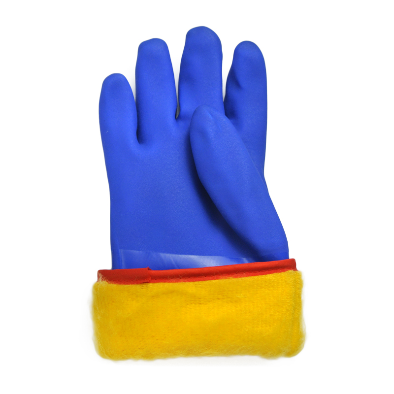 Blue cashmere wool inner set of warm gloves