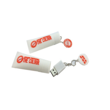 Tooth Paste Personalized PVC Rubber USB Pen Drive