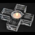 Glass Cross Tealight Holder