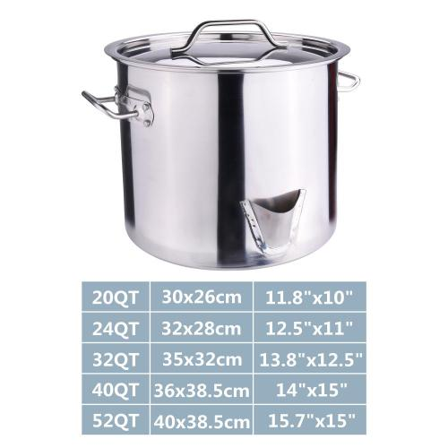 24Quart Stainless Steel Stock Pot with Lid