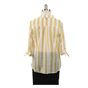 New Blouse Women Casual Striped Top Shirts Blouse