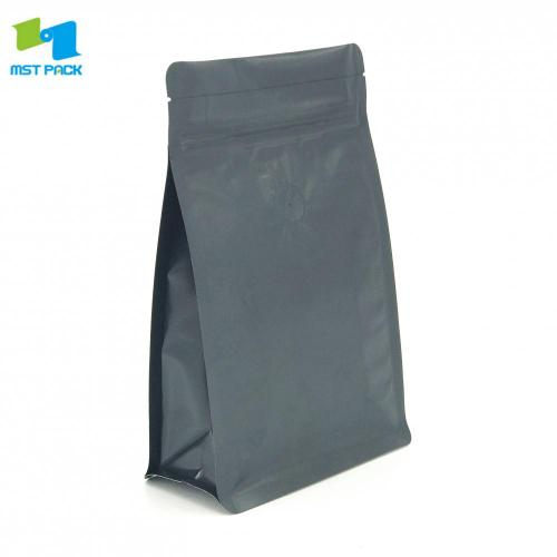 100% Biodegradable Compostable Foil Lined Flat Bottom Pouch Coffee Bags