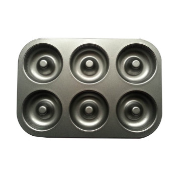 Quality Non-Stick 6-Cavity Donut Baking Pans