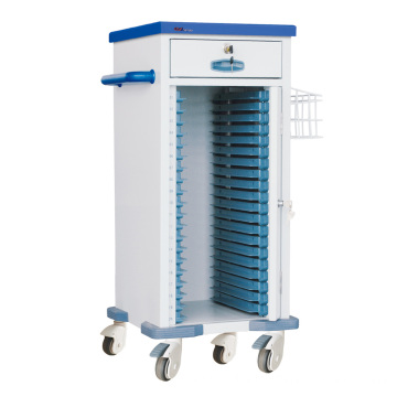 "Hospital Steel 20"" Medical Record Trolley"