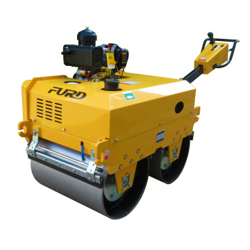 Manual vibrating hydraulic double drum road roller compactor vibratory roller FYL-S700