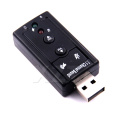 AT External USB AUDIO SOUND CARD ADAPTER VIRTUAL 7.1 ch USB 2.0 FOR Mic Speaker Audio Headset Microphone 3.5mm Jack Converter
