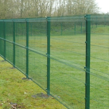 Dark Green Decorative garden curved welded wire mesh fencing