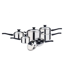 10 pcs cookware set with egg poacher