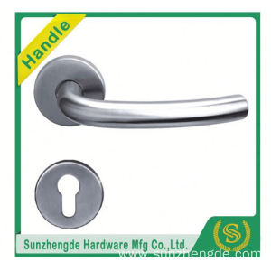 SZD STH-103 brushed stainless steel door handle on rose