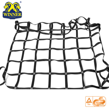Heavy Duty Safety Polyester Car Container Webbing Lifting Cargo Net