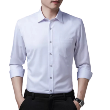 Mens Custom Business Long-sleeved Elastic Dress Shirts