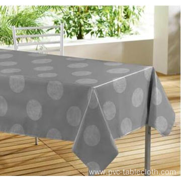 Elegant Tablecloth with Non woven backing Wood Grain