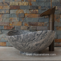 Juparana multicolor grey granite sink