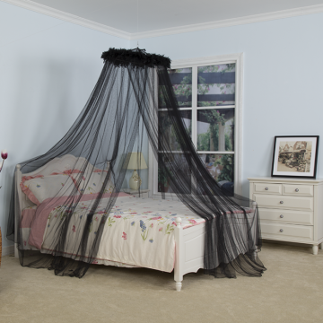 Black Feather Hanging Bed Mosquito Nets
