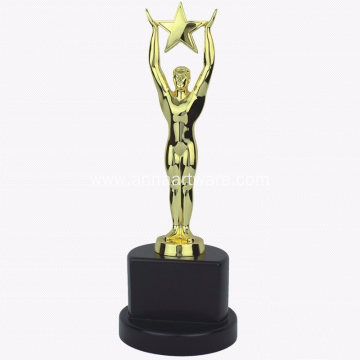 Wholesale Cheap Metal Awards Gold Star Trophy Cup