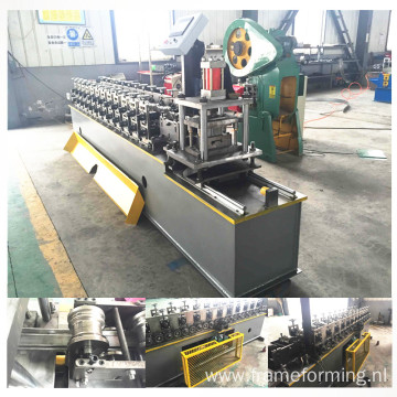 Galvanized steel door slat roll forming machine