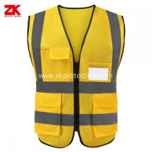 cheap yellow reflective safety vest for workwear