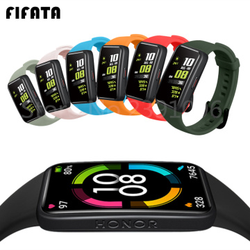 FIFATA Soft Silicone Sport Band Straps For Huawei Honor Band 6 Smart Wristband Bracelet Replacement Watch Strap For Honor Band6