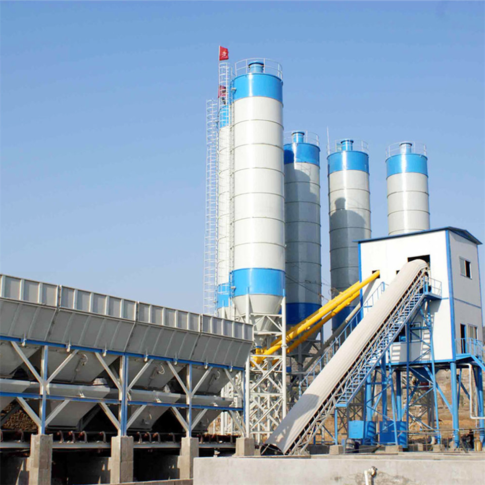 Automatic central control 90m3/h concrete batching plant