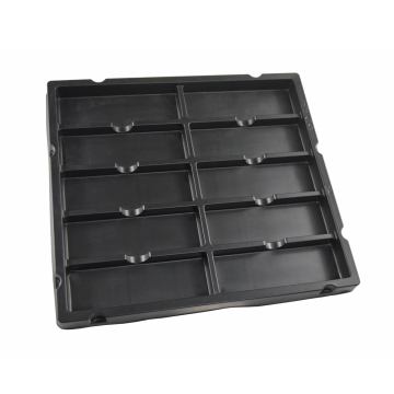 disposable thermoformed blister electronic packaging tray