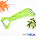5 in 1 stainless steel fruit julienne peeler