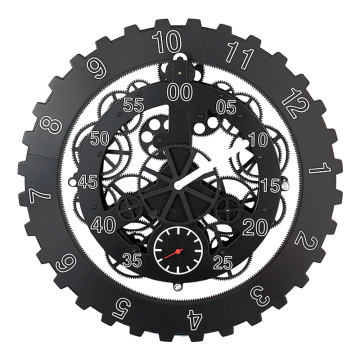 18 Inch Cool Back Gear Wall Clock