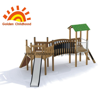 compact outdoor climbing play structure