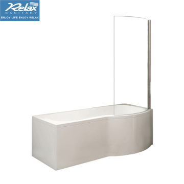 Modern 1500mm Bathtub Right Hand P-Shaped Bathtub