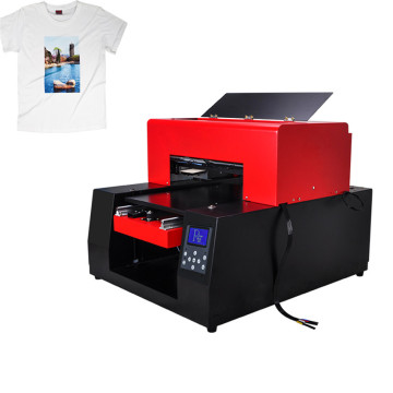 Flatbed Tshirt Printer med 3D Picture Effect